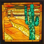 Butte and Cactus - Anne Thornton
