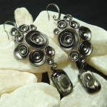 Grey Lotus Earrings Anne Thornton