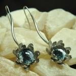 Midnight Peony earrings by Anne Thornton