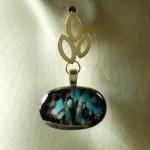 Peacock Speckle earrings by Anne Thornton