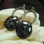 Black Vulcan Earrings by Anne Thornton
