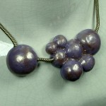 Grape Bubbles Necklace by Anne Thornton