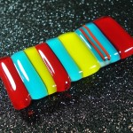 Primary Strip Brooch by Anne Thornton