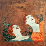 5. Anne Thornton - The Girls glass on copper