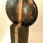 Anne Thornton glass, copper and wood