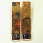 Anne Thornton - heat copper earrings
