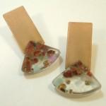 matt copper earrings Anne Thornton